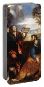 Sts John And Bartholomew With Donors 1527 Portable Battery Charger
