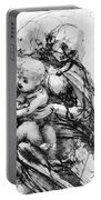 Study For A Madonna With A Cat Portable Battery Charger