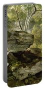 Study From Nature   Rocks And Trees Portable Battery Charger