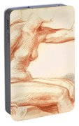 Study Of A Female Nude Seated Portable Battery Charger