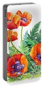 Study Of Poppies Portable Battery Charger