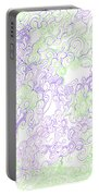 Study Purple And Green Portable Battery Charger