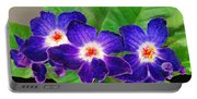 Stunning Blue Flowers Portable Battery Charger