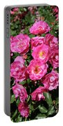 Stunning Pink Roses Portable Battery Charger