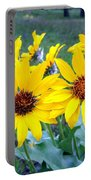 Stunning Wild Sunflowers Portable Battery Charger