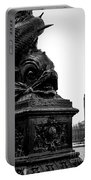 Sturgeon Lamp Post With Big Ben London Black And White Portable Battery Charger