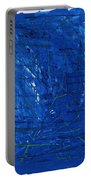 Subatomic Particles In Blue State Portable Battery Charger
