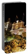 Subtropical Church Garden - St Lawrence In Birgu Malta Portable Battery Charger