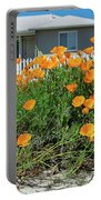 Suburban House On Orchard Avenue With Poppies Hayward California 3 Portable Battery Charger