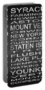 Subway New York State 2 Square Portable Battery Charger