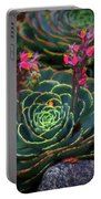 Succulent Flowers Portable Battery Charger