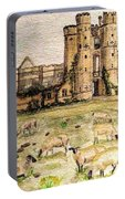 Suffolk Sheep Grazing In Sussex Portable Battery Charger