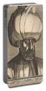 Suleyman The Magnificent , Engraved By Melchior Lorck Portable Battery Charger