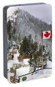 Sulphur Mountain In Banff National Park In The Canadian Rocky Mountains Portable Battery Charger