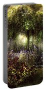 Summer - Landscape - Eve's Garden Portable Battery Charger by Mike Savad