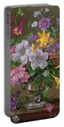 Summer Arrangement In A Glass Vase Portable Battery Charger