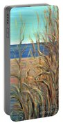 Summer Beach Grasses Portable Battery Charger