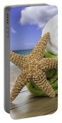 Summer Beach Towels Portable Battery Charger by Amanda Elwell