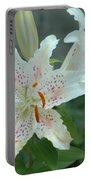 White Tiger Lilies  Portable Battery Charger