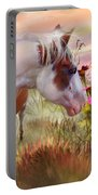 Summer Blooms Portable Battery Charger by Carol Cavalaris