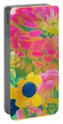 Summer Blossoms - Pop Art Portable Battery Charger