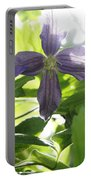 Summer Clematis In Light Shade Portable Battery Charger
