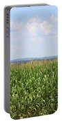 Summer Corn And Blue Skies In Maine  Portable Battery Charger