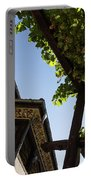 Summer Courtyard - Decorated Eaves And Grape Arbors In The Sunshine Portable Battery Charger
