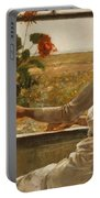 Summer Evening Portable Battery Charger by Childe Hassam