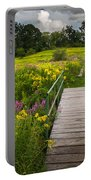 Summer Field Of Wildflowers Portable Battery Charger