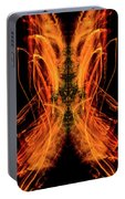 10658 Summer Fire Mask 58 - Dance Of The Fire Queen Portable Battery Charger