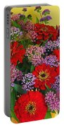 Summer Flower Bouquet Portable Battery Charger