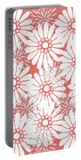 Summer Flowers Red Portable Battery Charger