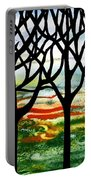 Summer Forest Abstract  Portable Battery Charger