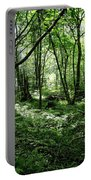 Summer Forest On A Sunny Day Portable Battery Charger