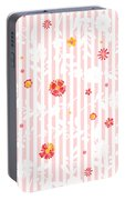 Summer Garden Floral Pattern Portable Battery Charger