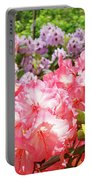 Summer Garden Pink Purple Rhododendrons Baslee Portable Battery Charger