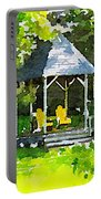 Summer Gazebo With Yellow Chairs Portable Battery Charger