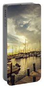 Summer Harbor Sunset Portable Battery Charger