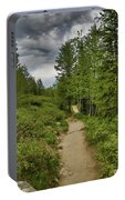 Summer Hike And Storm Clouds Portable Battery Charger