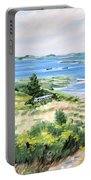 Summer In Lunenburg Harbour Portable Battery Charger