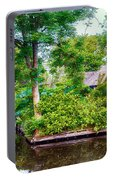 summer in old dutch village, Giethoorn Portable Battery Charger