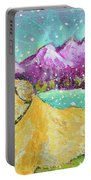 Summer In The Mountains With Summer Snow Portable Battery Charger