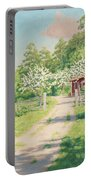 Summer Landscape With House Portable Battery Charger