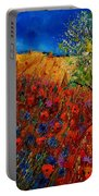 Summer Landscape With Poppies  Portable Battery Charger