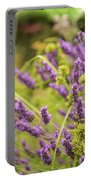 Summer Lavender In Lush Green Fields Portable Battery Charger