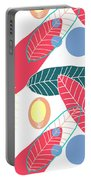 Summer Leaf In Pink  Portable Battery Charger