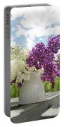 Summer Lilacs Portable Battery Charger