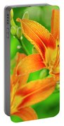 Summer Lilies Portable Battery Charger