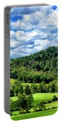 Summer Morning Meadow And Ridge Portable Battery Charger